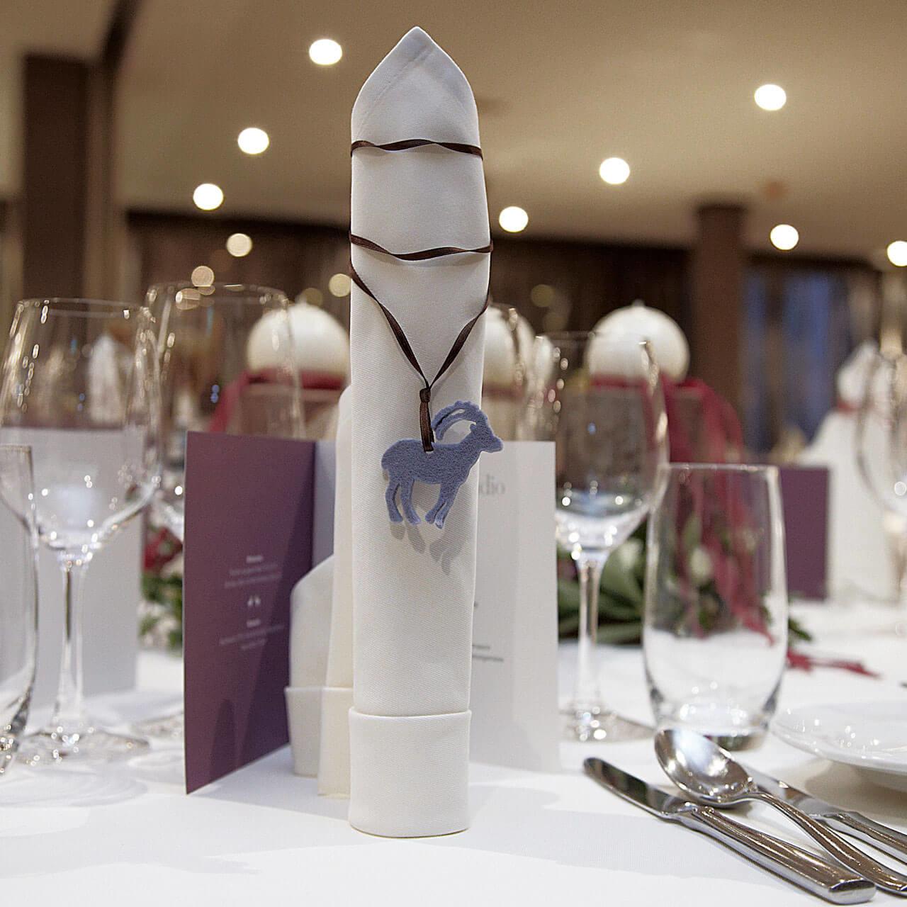 Tischdekoration für Hochzeit
